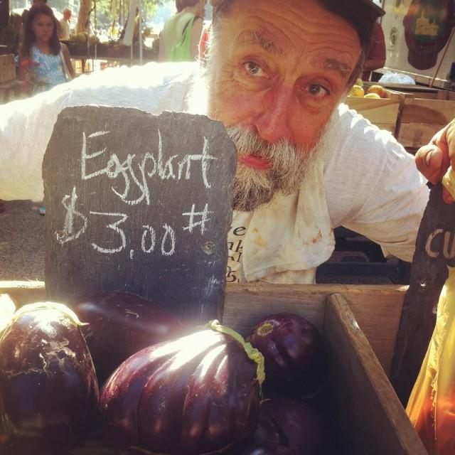 Rays got eggplants! Greenmarket big news of this friday morninghellip
