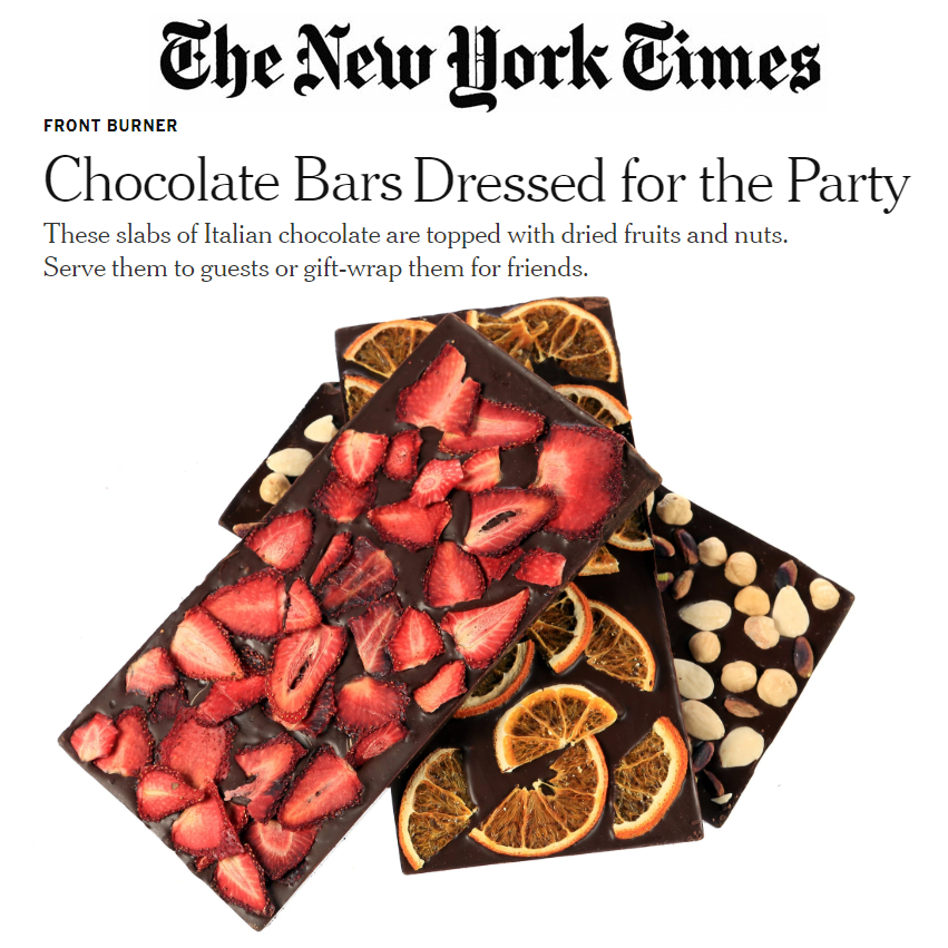 In the New York Times Gustiamo Marco Colzani bean to bar chocolate Florence Fabricant