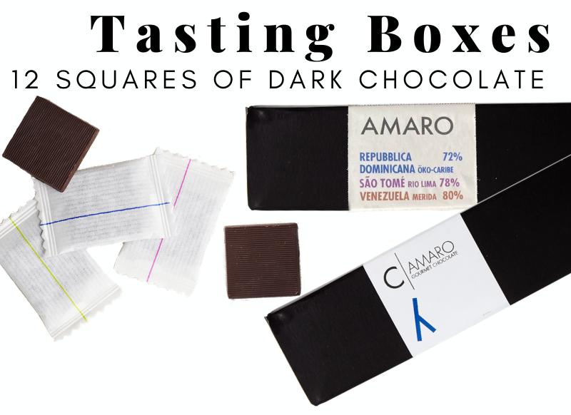 Tasting Boxes 12 squares of dark chocolate